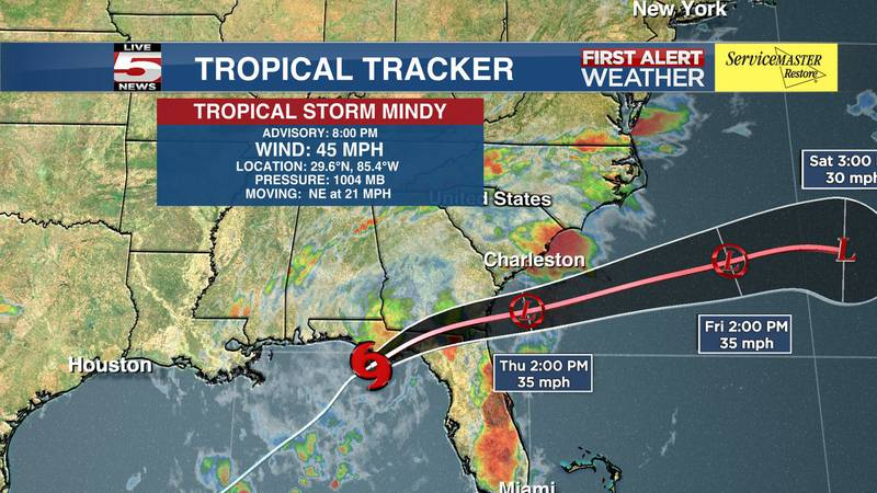 There will be a potential for heavy rainfall in the Lowcountry as Tropical Storm Mindy moves...