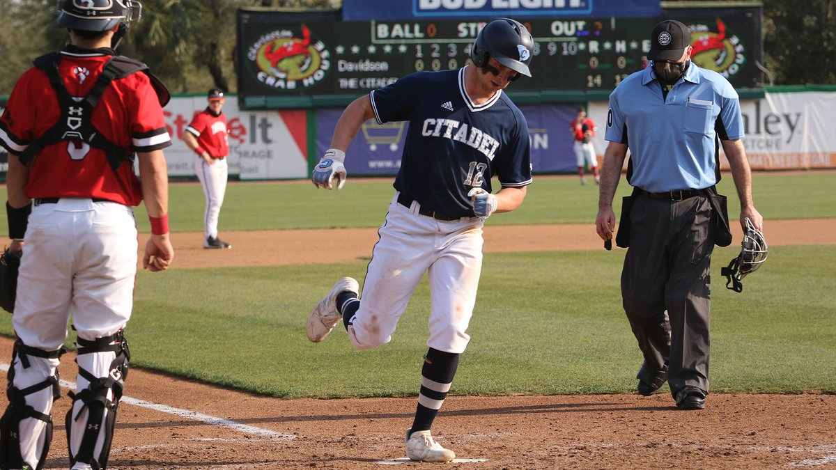 The Citadel collected 16 hits on Saturday in a 19-0 win over Davidson