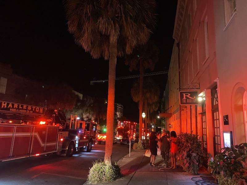 Emergency crews with the Charleston Fire Department worked Sunday night to rescue people...