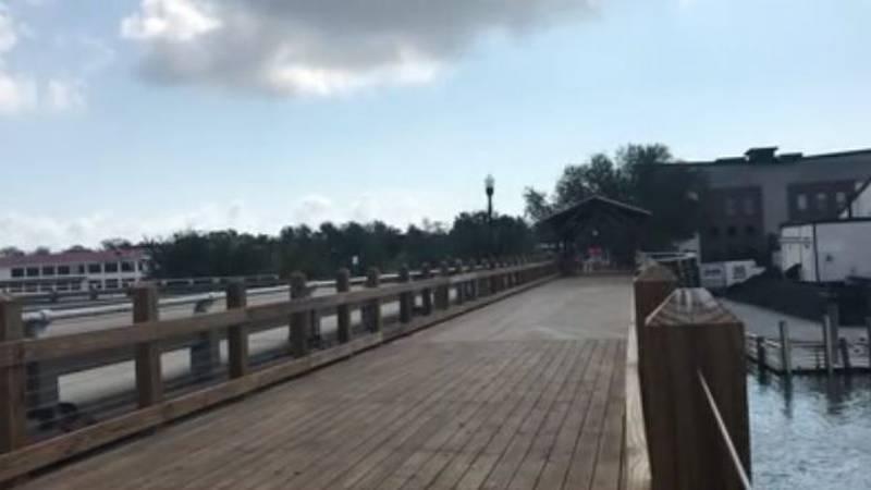 The bridge is wider than the average pedestrian walkway.