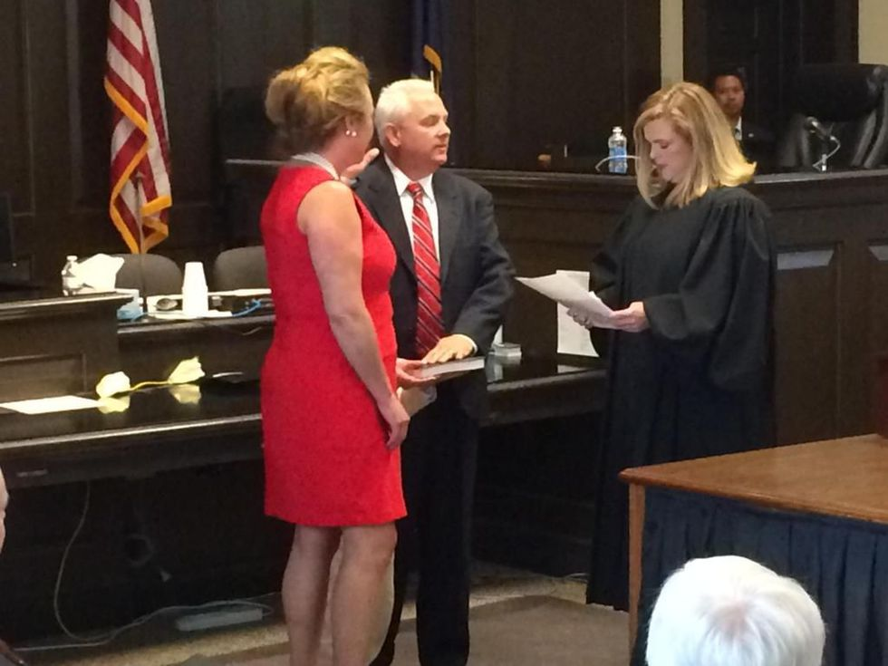 Lewis sworn in to office on Friday. (Source: WCSC)