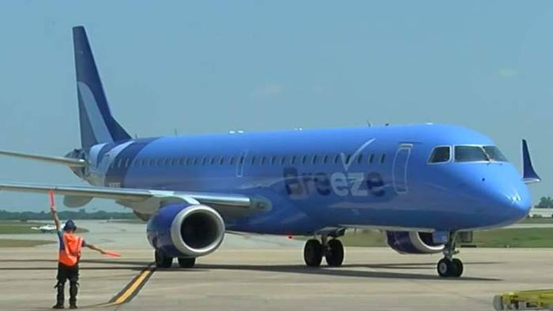 Breeze Airway announced the addition of five new non-stop routes on Wednesday.