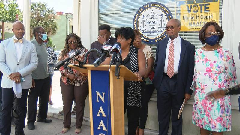 The Charleston Branch of the NAACP held a press conference on Wednesday morning about...