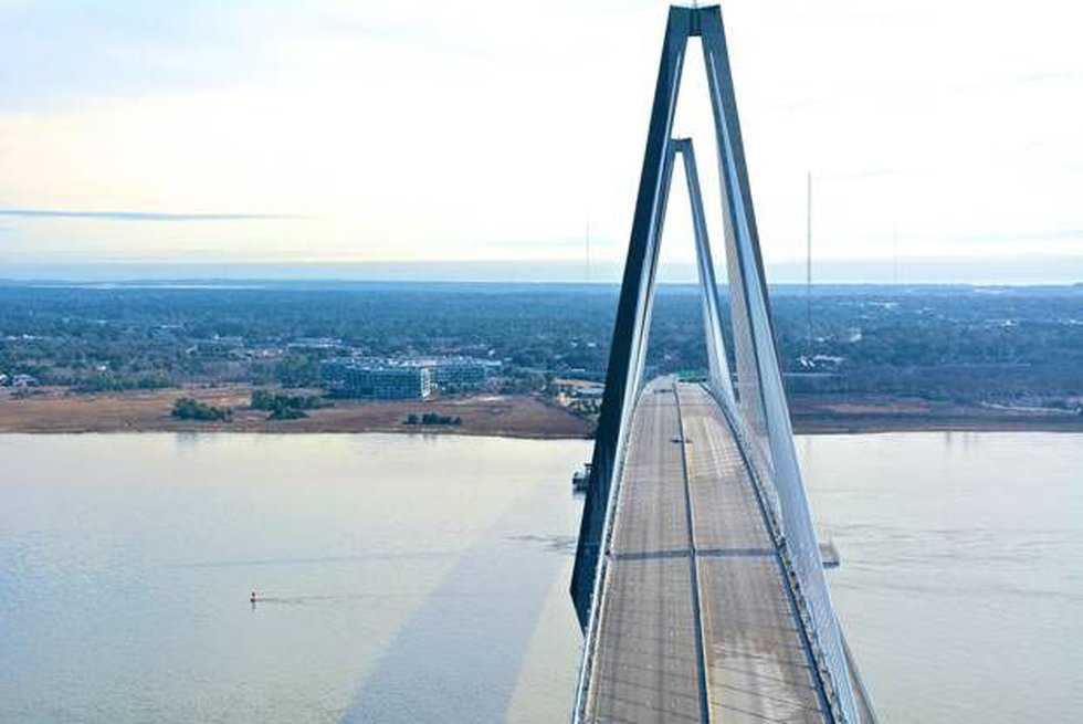Ravenel Bridge has been closed since 10:30 a.m. (Source: Holy City Helicopter)