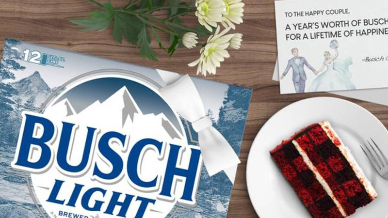 Busch is making a special offer to couples whose weddings were put on ice due to the...