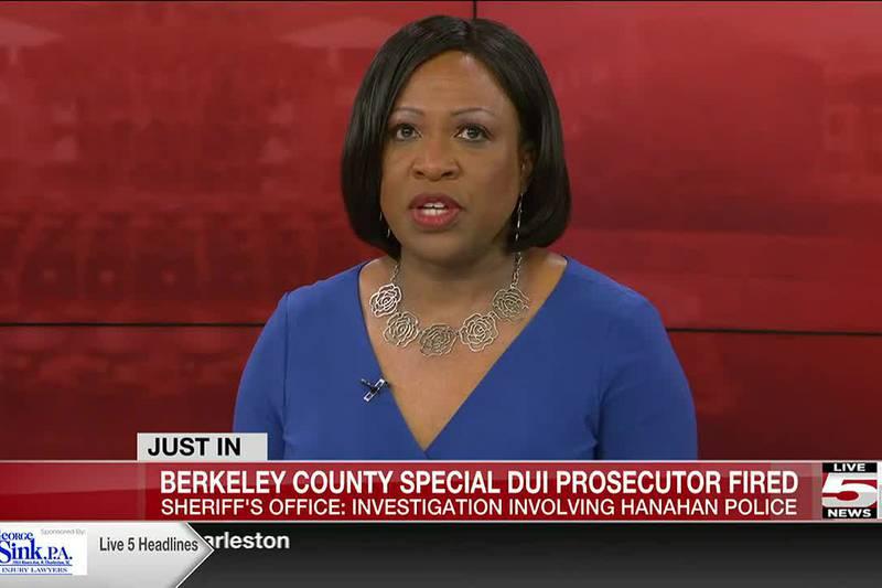 VIDEO: Berkeley Co. Sheriff's Office special DUI prosecutor fired following attempted murder...