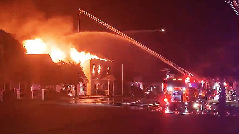 Emergency crews have responded to a fire involving three Mount Pleasant businesses early...