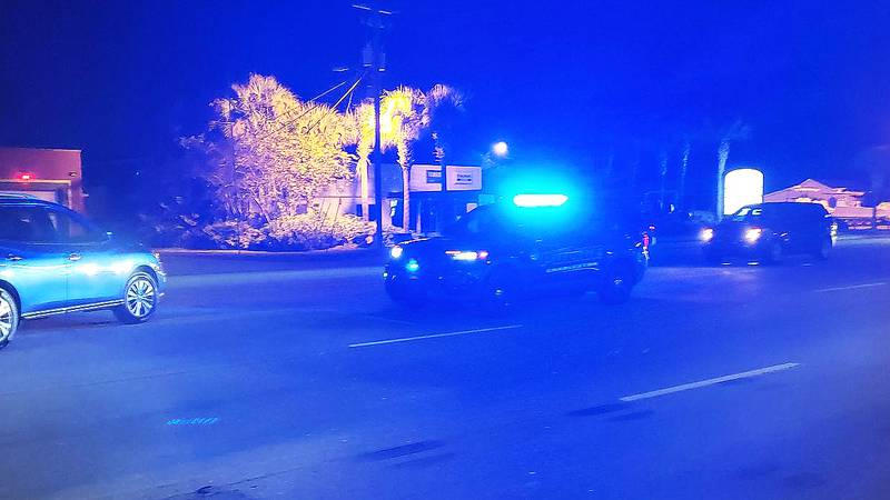 Charleston police say one person died after being struck by a vehicle while attempting to cross...