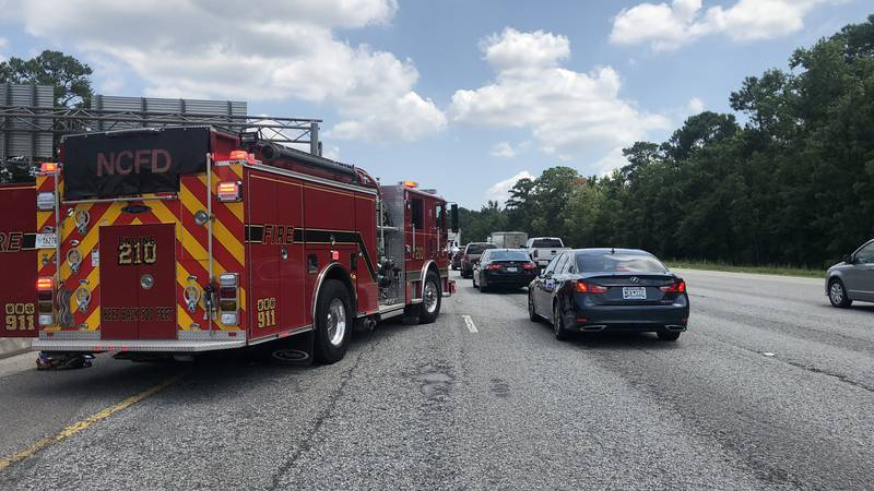 Emergency crews have cleared a multi-vehicle accident on I-26 near the Ashley Phosphate exit...