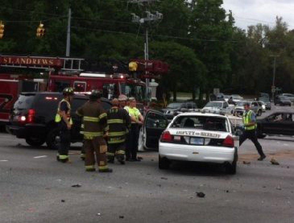 Scene of the accident. (Photo: Ann McGill)