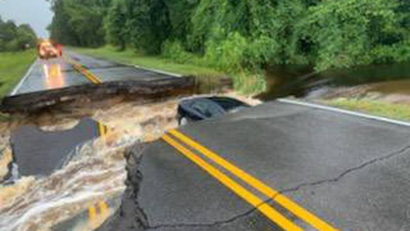 Hendersonville Highway is expected to be closed for weeks.