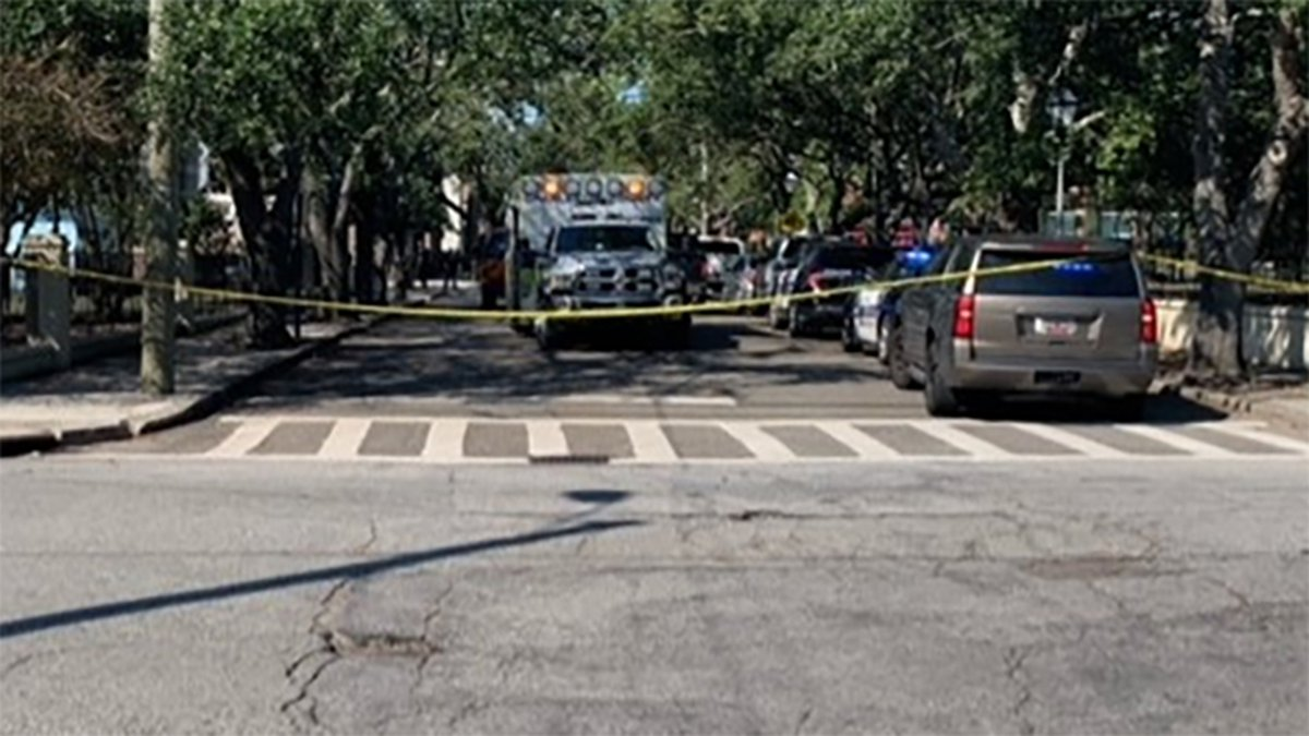 Units with the Air Force's Explosive Ordnance Disposal has removed a device from downtown...