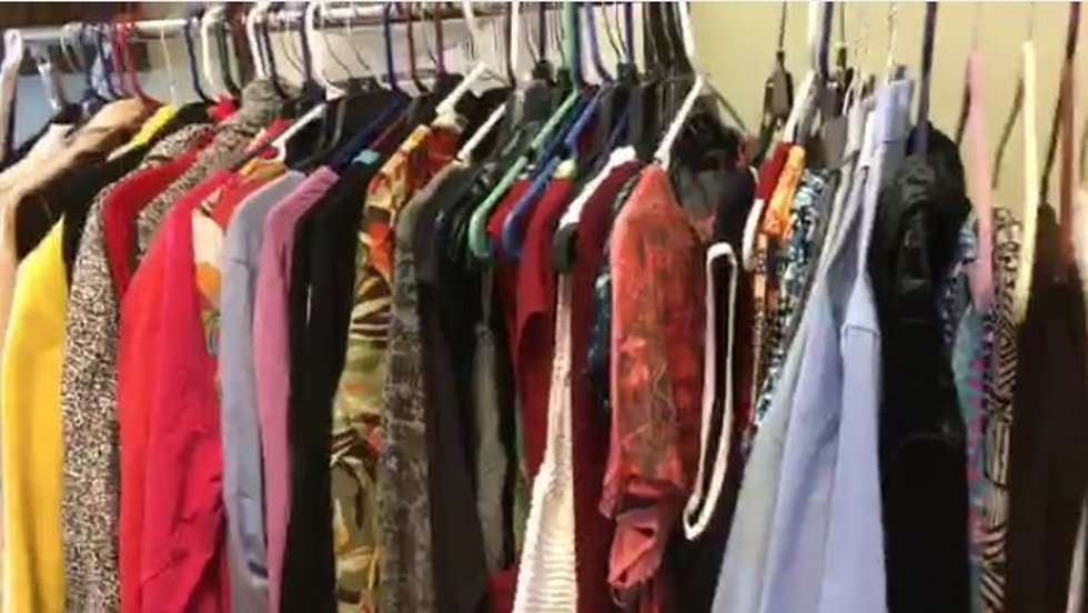 """Outfits for job interviews in the """"success closet"""" are donated by Roper St. Francis teammates...."""