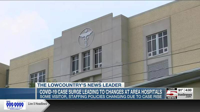 VIDEO: Lowcountry hospitals change visitor, mask policies as COVID cases rise