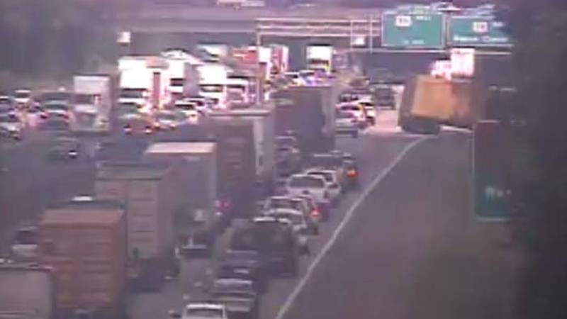 Crashes have both the eastbound and westbound lanes of I-26 blocked near Charleston Southern...
