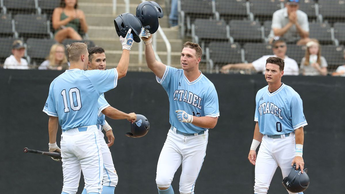 The Citadel got three home runs in the third inning of the first game of the doubleheader...