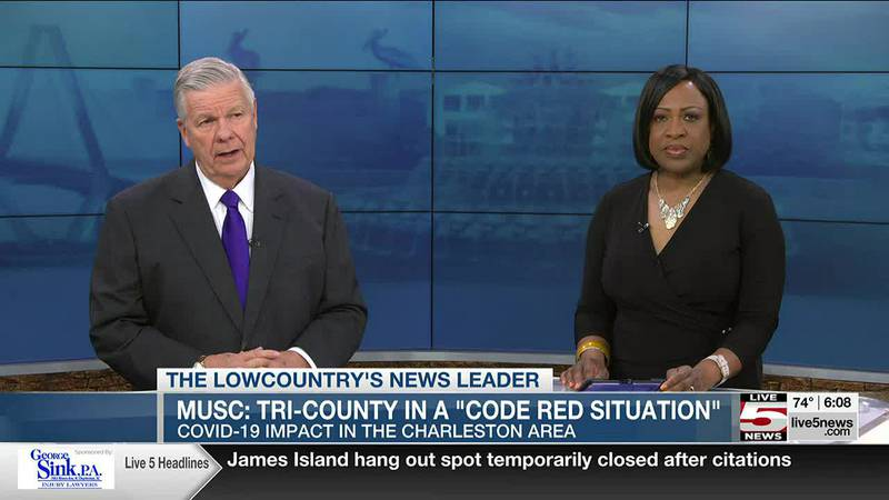 VIDEO: MUSC officials say Tri-County is in a 'code red situation' with COVID