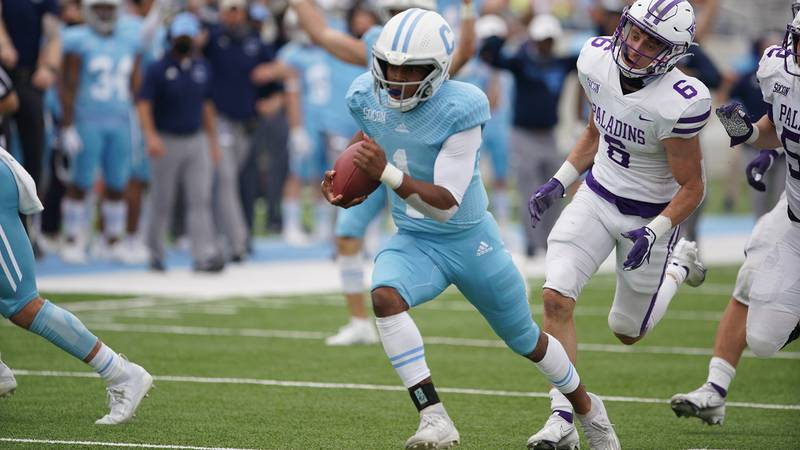 The Citadel's Jaylan Adams was named the SoCon Offensive Player of the Week on Saturday