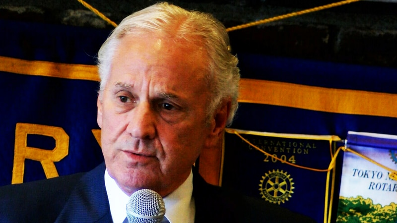 Gov. Henry McMaster speaks at a rotary club meeting at Bessinger's BBQ in Charleston, South...