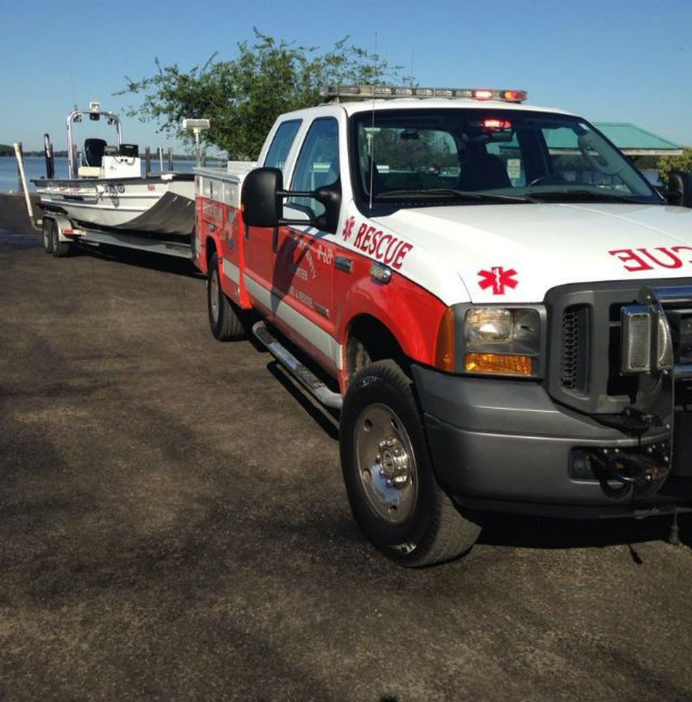 The Charleston County Volunteer Rescue Squad is also assisting. (Photo Source: Harve...