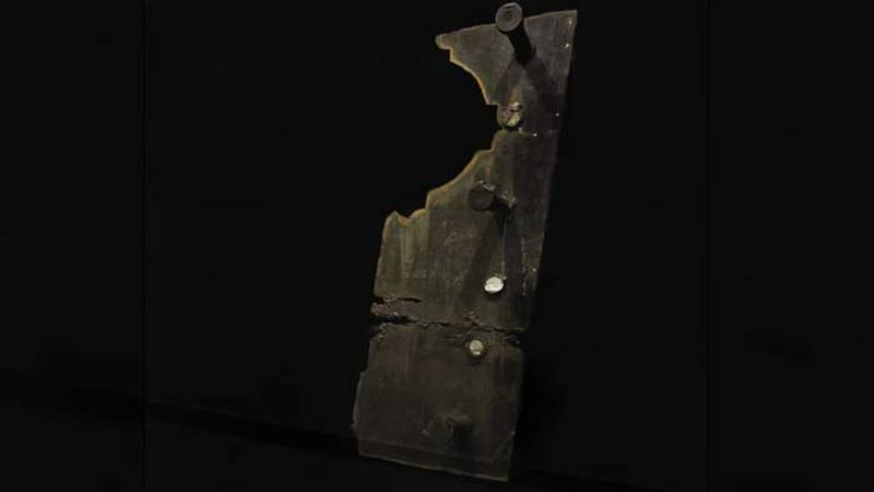 The Citadel's School of Humanities and Social Sciences will exhibit a fragment of steel from...