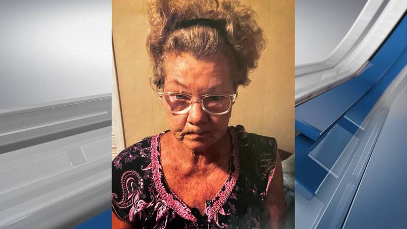 Linda Holden was last seen on Addy Lane at 9 p.m. Wednesday wearing multi-colored pajamas.