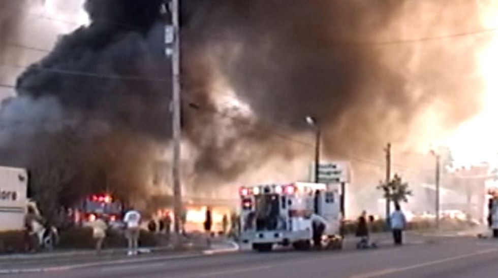 The scene of the fire on June 18, 2007 (Source: Live 5)
