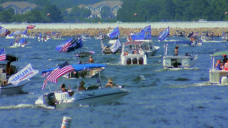 More than 3,400 boats participated in the parade, organizer Jason Cline said.