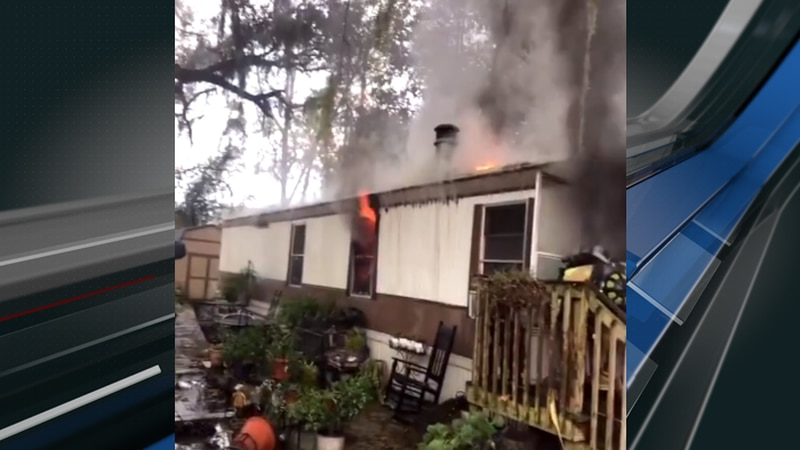 Two people have been displaced as a result of the fire, according to the North Charleston Fire...