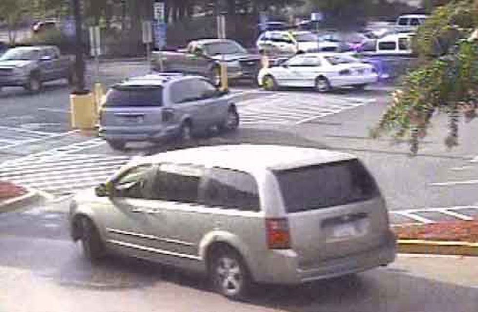 Picture of the suspect's vehicle at a Walmart on Folly Road (Source: CCSO)