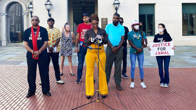 Activist groups held a news conference Thursday outside the Ninth Circuit Solicitor's Office to...