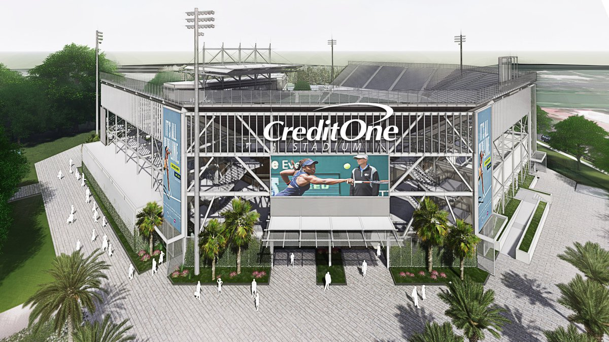 Credit One Bank has reached a deal with Charleston Tennis, LLC to take over naming rights of...