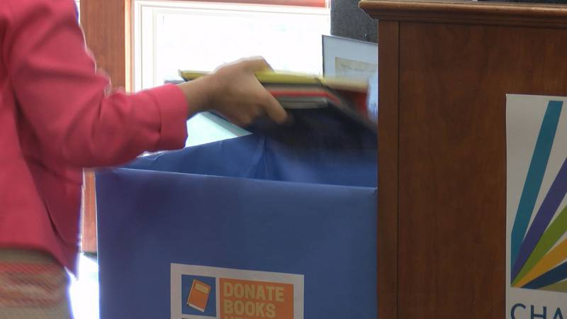The Hurd family has a goal of receiving 20,000 books during this year's book drive.