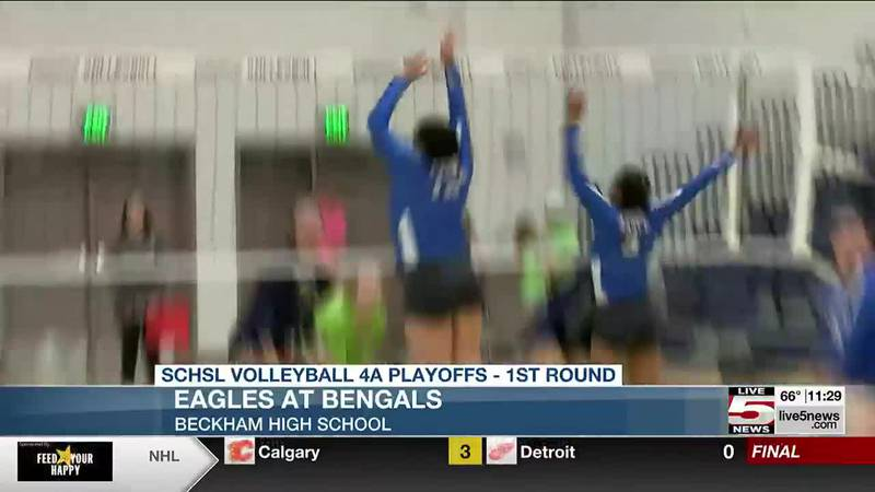 Beckham and Philip Simmons each picked up 1st round wins in volleyball playoffs on Thursday