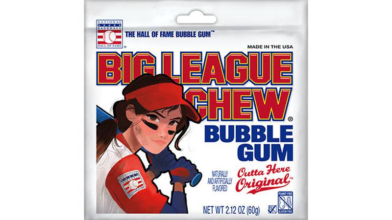 For years, the shredded gum's pouch has featured a big muscle-bound man, but the company says...