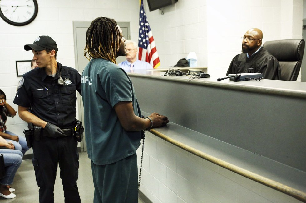 Wiley in bond court on Tuesday. (Source: Live 5 News)