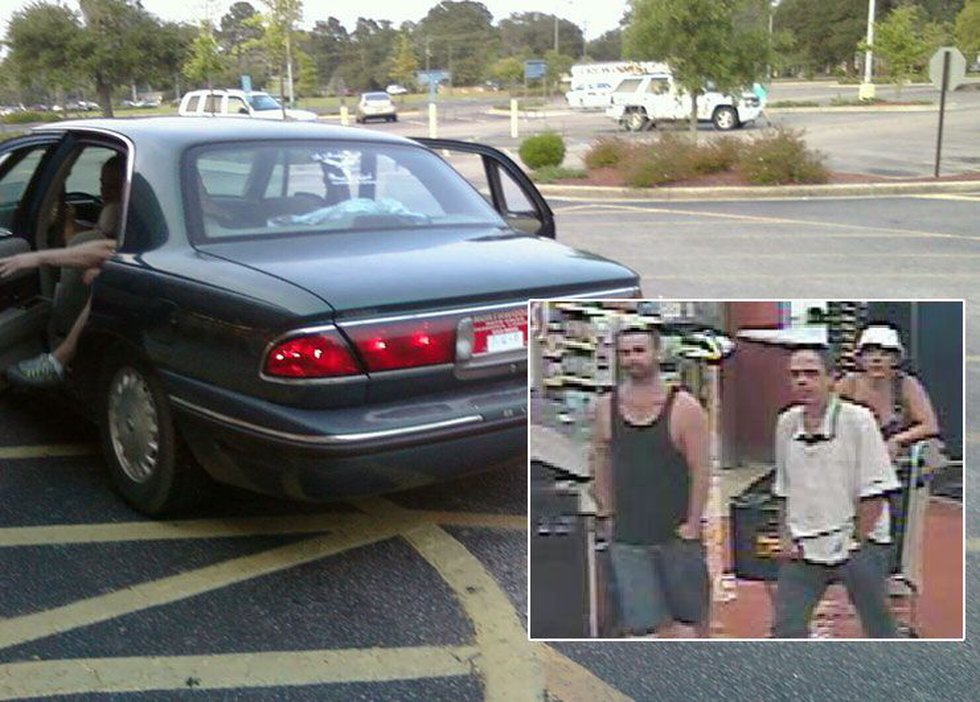 Three suspects are wanted for stealing a woman's purse and cashing fraudulent checks. (Source:...