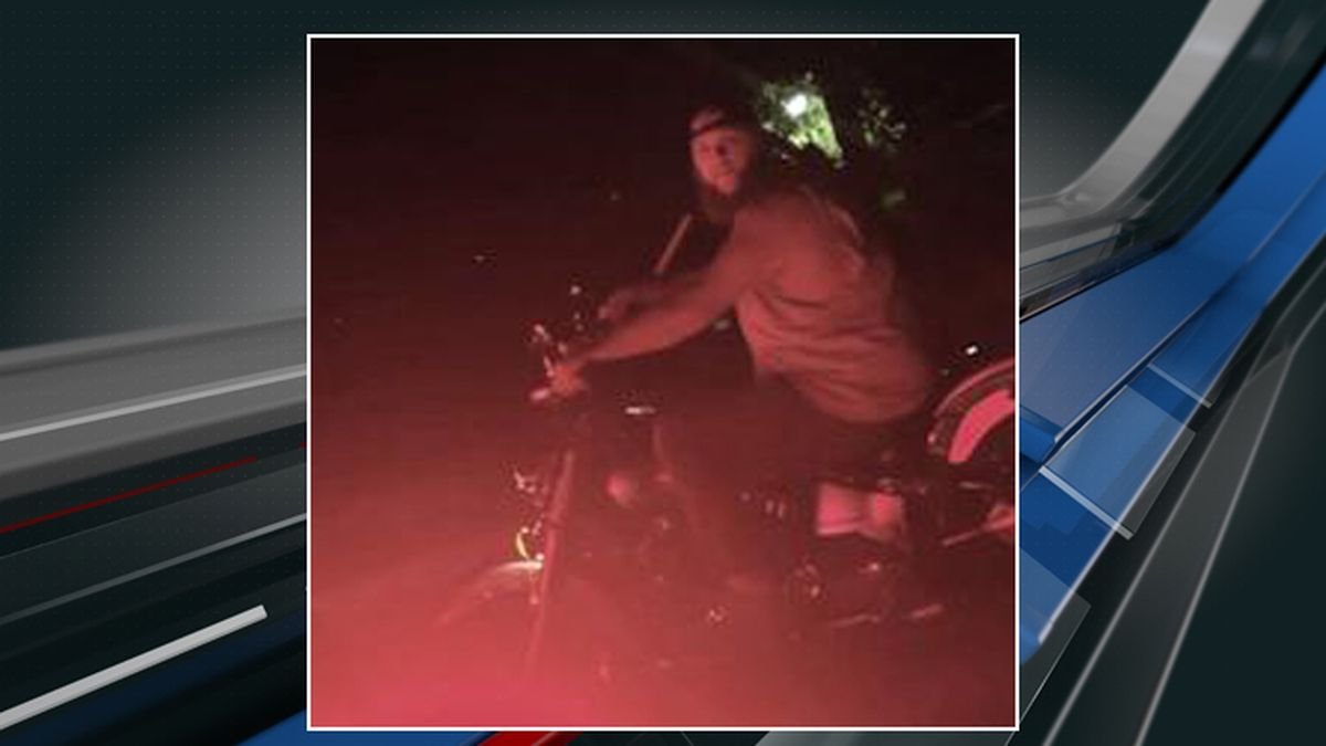 The sheriff's office said this picture captures the suspect accused of pointing a gun and...
