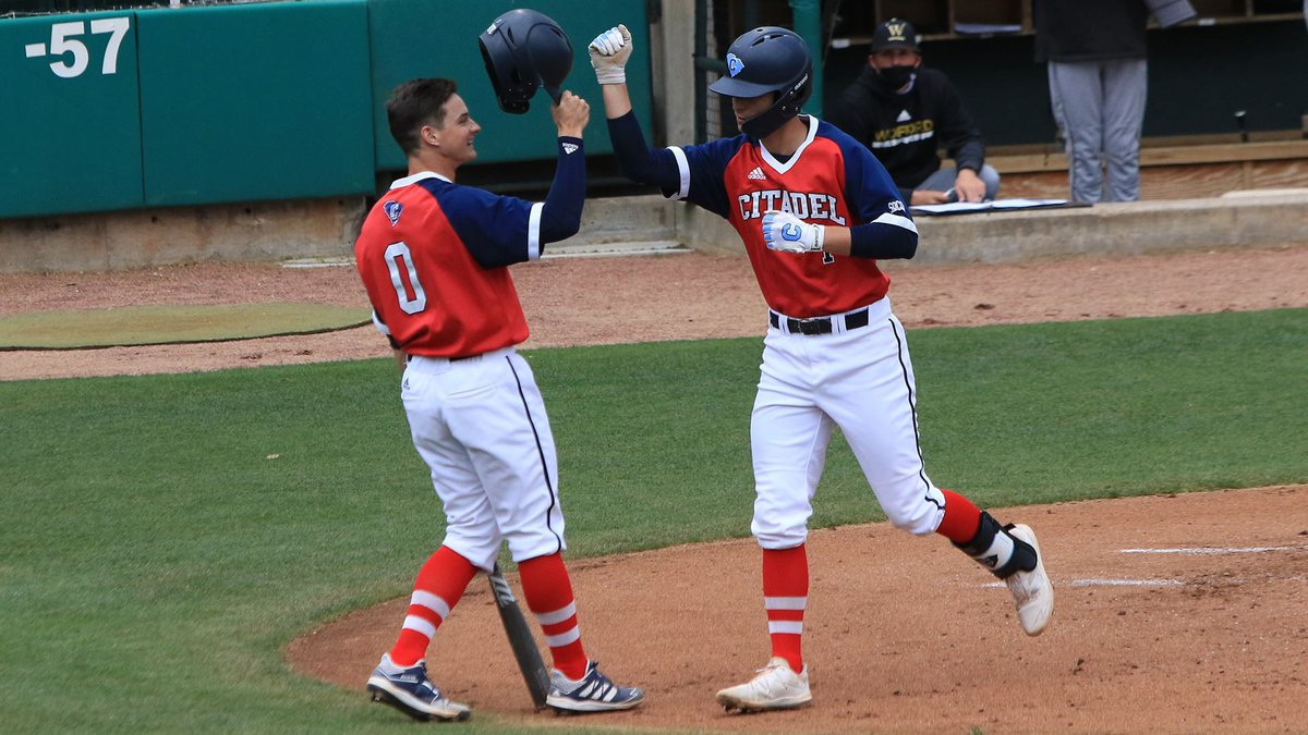 The Citadel moved to 8-8 on the season as they split their SoCon opening doubleheader with...