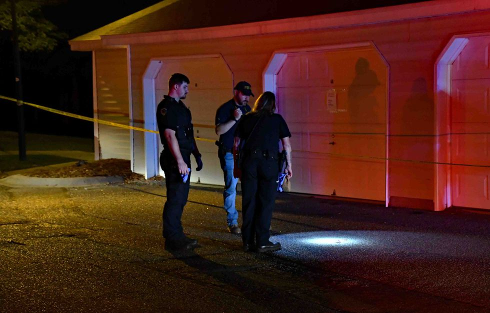 Authorities on the scene of the fatal shooting that took the life of a woman.