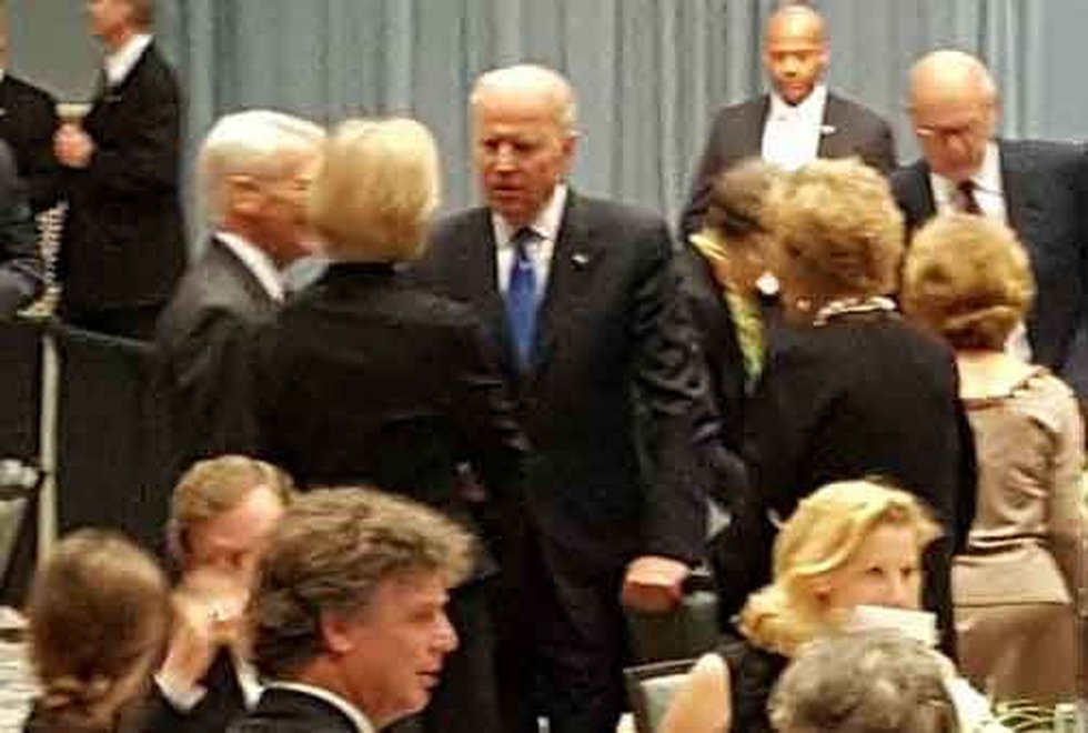 Biden and Riley greeting guests. (Source: WCSC)