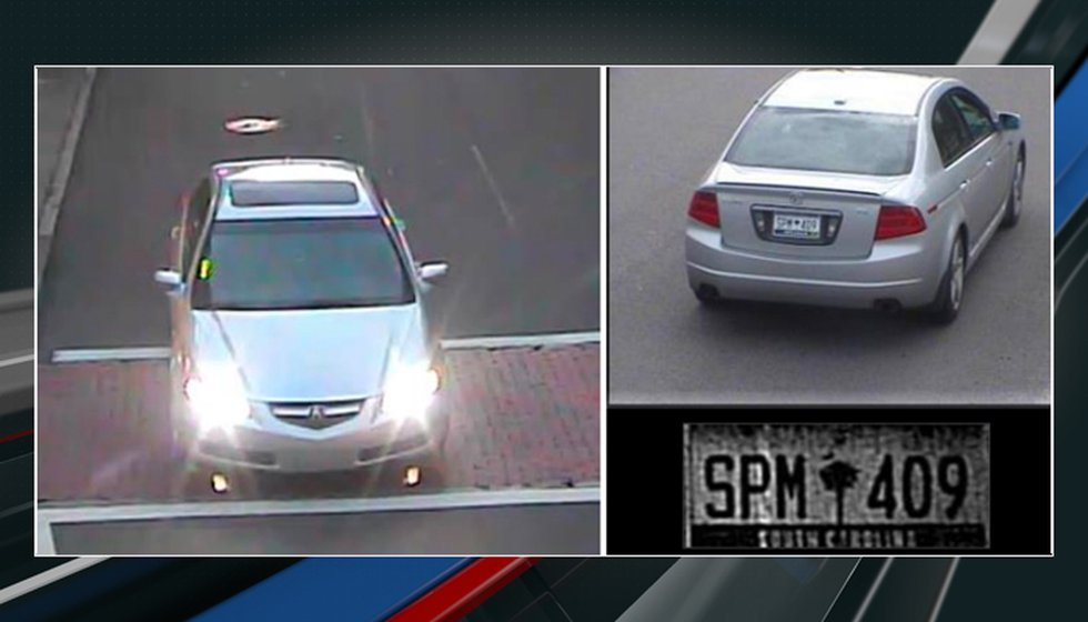 Charleston police officials have released pictures of a vehicle sought in connection to the...