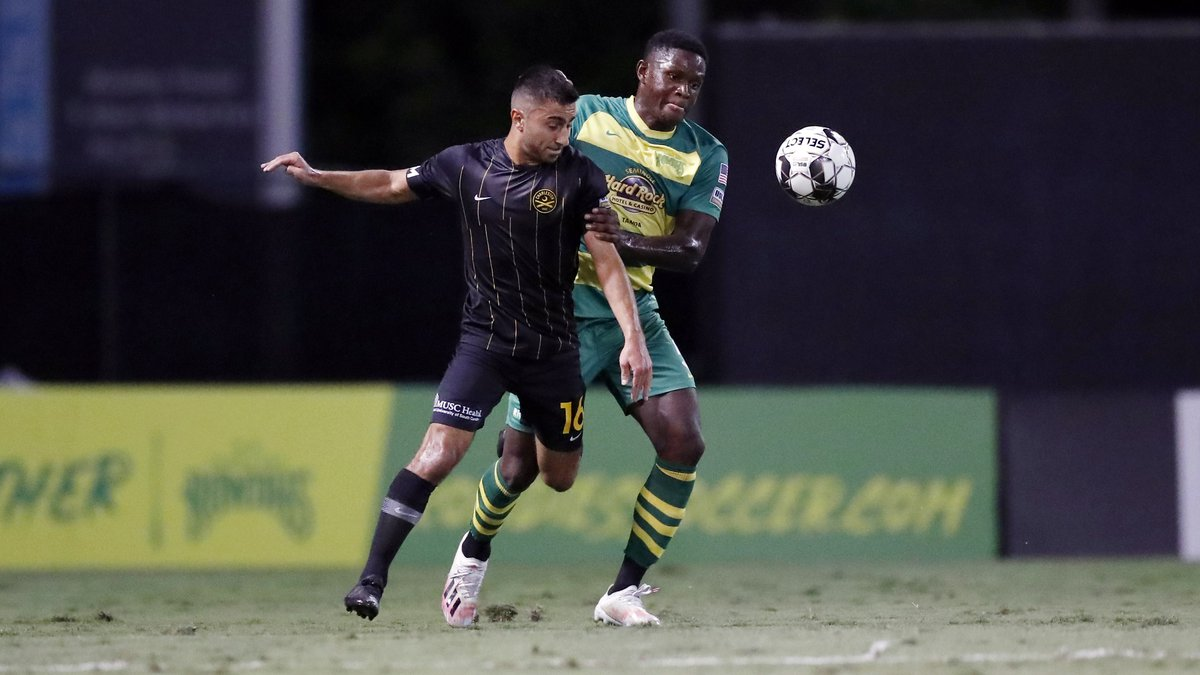 OCTOBER 17, 2020 - ST. PETERSBURG, FLORIDA: The Tampa Bay Rowdies playoff match against the...