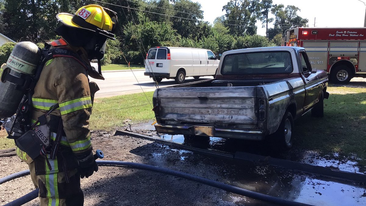 Officials with the Burton Fire District say a driver driver pulled up to their fire station...