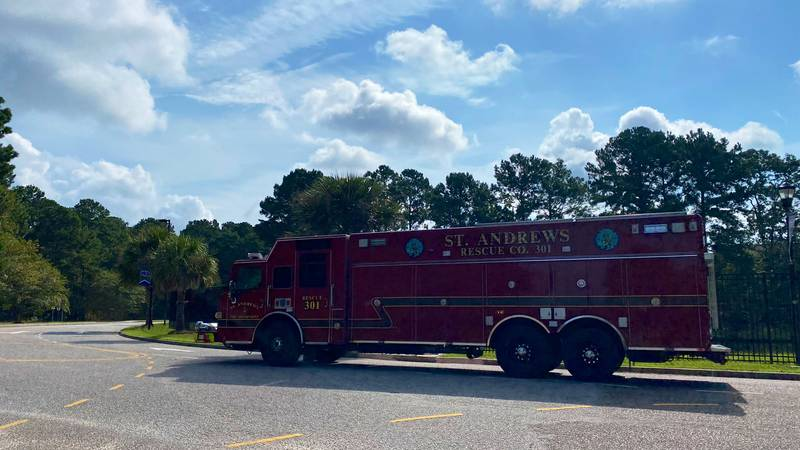 Firefighters say there was a report of smoke near the roof area of the high school.
