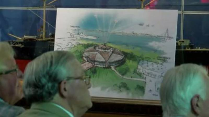 A drawing shows a possible design of the new Medal of Honor museum