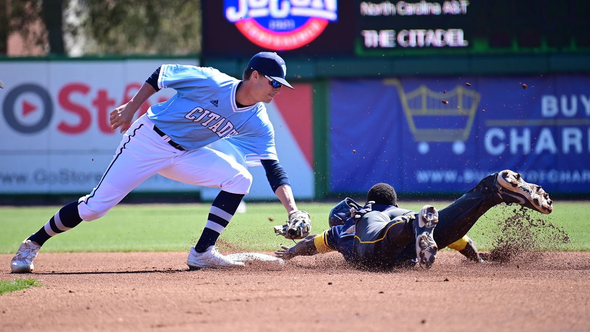 The Citadel baseball team dropped a 12-1 decision to North Carolina A&T in the rubber game of...