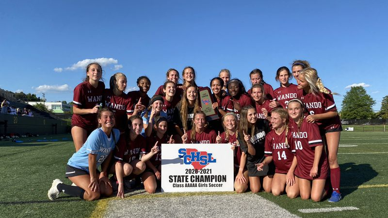 The Wando Warriors girls soccer team beat JL Mann in double overtime on Friday to win the 5-A...