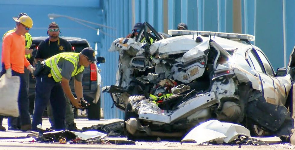 Highway Patrol reported that a Ford F-350 truck pulling a trailer struck the rear of the...