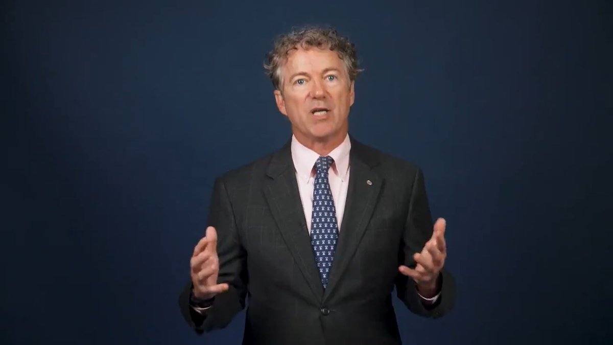 """Senator Rand Paul of Kentucky says we are at a """"moment of truth"""" and """"a crossroads"""" in dealing..."""